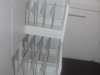 Bank of wardrobes pull out shoe racks